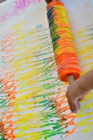 and colorful painting with yarn and a rolling pin you 432   c330f3dbbc25cc8774d072a7b079b70b