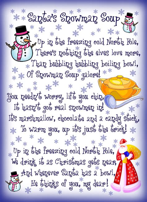 santas snowman soup poem rooftop post printables