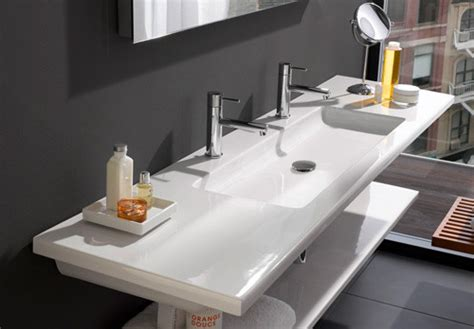 flat bathroom sinks laufen living square retreat design