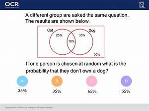 Venn Diagrams  Foundation  Higher   Gcse Maths Question Of