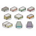 Vector Mattress Icons Bed Vecteezy Clipart Bigger