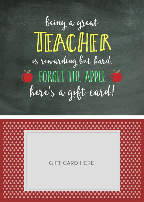 Easily create cards to print or send online! Teacher Appreciation Gift Card Holder - Lil' Luna