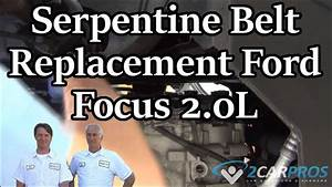 How To Replace A Serpentine Belt    Ford Focus 2 0l 2005