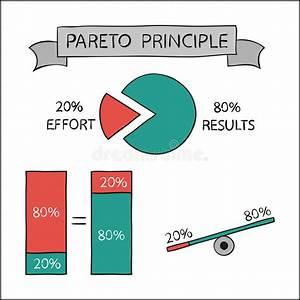 Pareto Principle  Vector Infographic Stock Vector