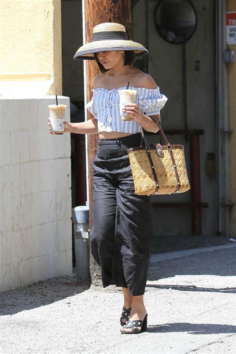 Good quality coffee, milk and reasonable price. Vanessa Hudgens Leaves Alfred Coffee in Studio City 08/12/2017 - celebsla.com