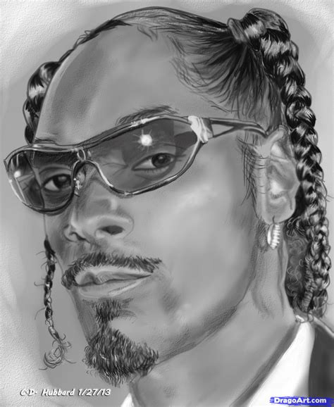 How To Draw Snoop Dogg, Step By Step, Portraits, People