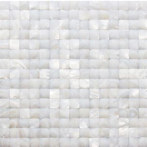 splashback tile of pearl white 3d pearl shell