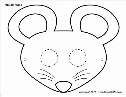 Mask Printable Mouse Masks Firstpalette Templates Coloring