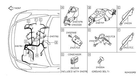 2014 Maxima Wiring Diagram by 24011 Zx80a Genuine Nissan 24011zx80a Harness Assy Egi