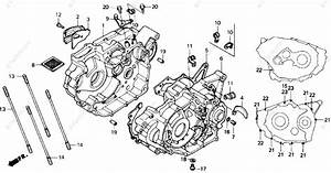 Honda Atv 1987 Oem Parts Diagram For Crankcase