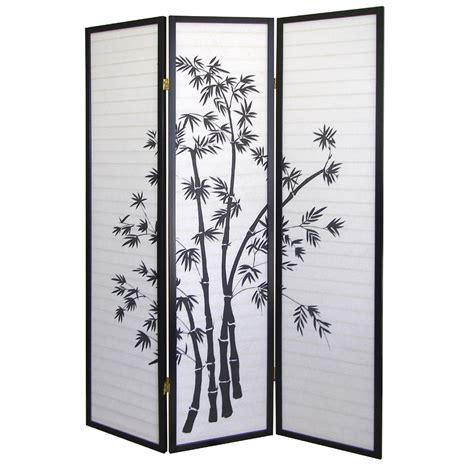 Ore International Bamboo 3panel Room Divider By Oj