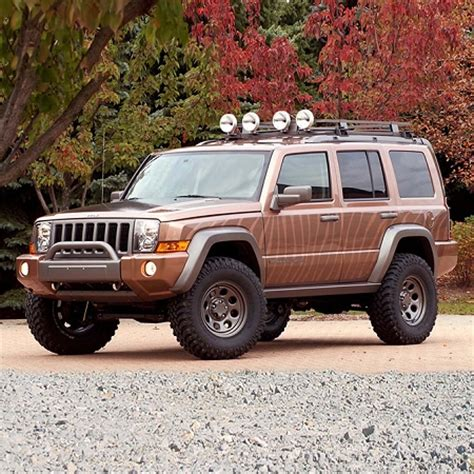 commander jeep lifted sup k864 superlift suspension 2005 2007 jeep commander