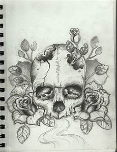 skull tattoo sketch | Tumblr