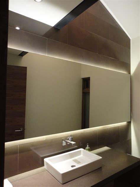 powder room mirror powder room contemporary with bathroom backlit mirror powder room contemporary powder room