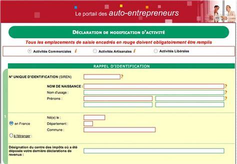 Modification De Qualification Professionnelle by Comment Changer D Activit 233 En Auto Entrepreneur