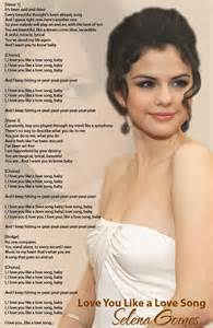 Selena Gomez Love Song Lyrics I Like You