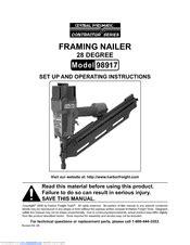 Central pneumatic 98917 Manuals | ManualsLib