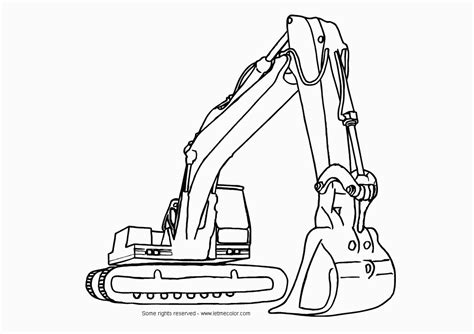 Coloring Excavator by Coloring Excavator Letmecolor