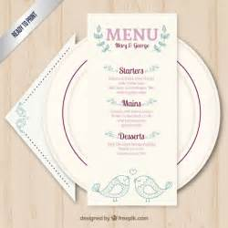 free wedding menu templates wedding menu template vector free