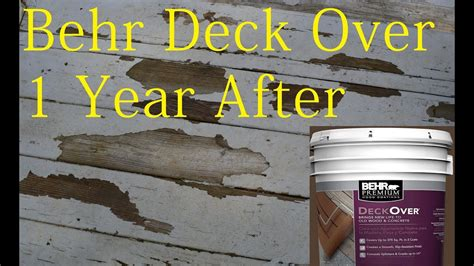behr deck  paint review   year youtube