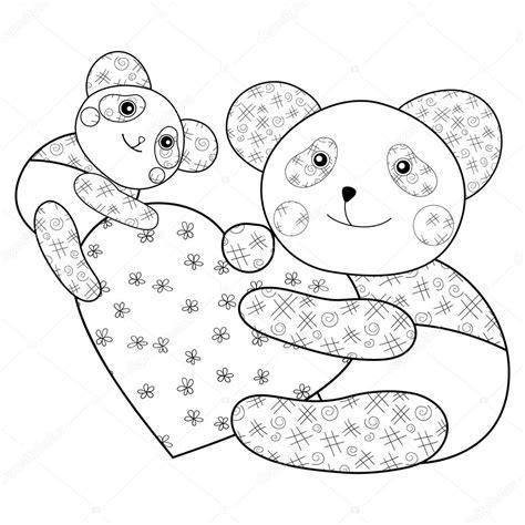 Kleurplaat Baby Panda by Panda Met Hart Fotoboekpagina Kleurplaten