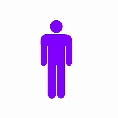 Stick Purple Male Clip Svg Clipart Px