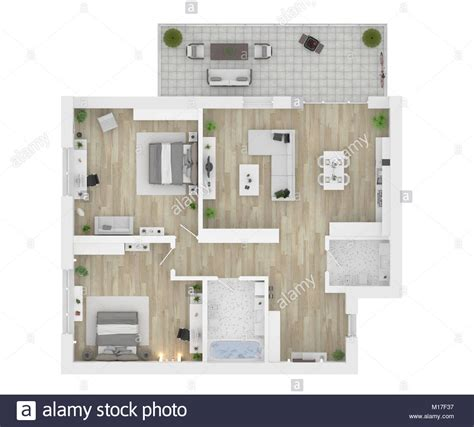 Top Apartment Floor Plans by Floor Plan Top View Apartment Interior Isolated On White