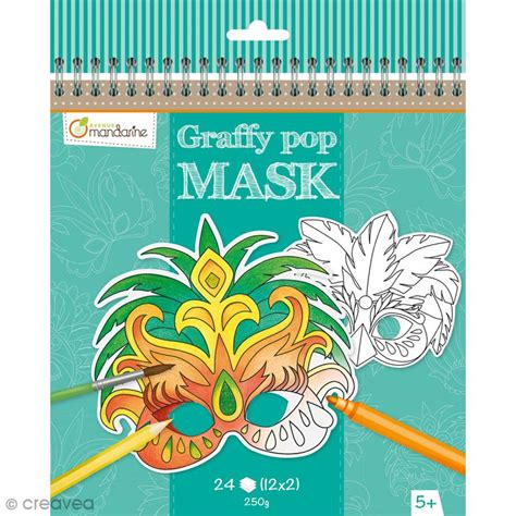 accessoires cuisine enfants masques à colorier et découper carnaval de 24