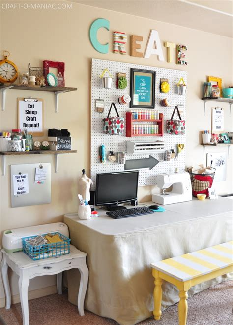 craft room wall  whites  brights
