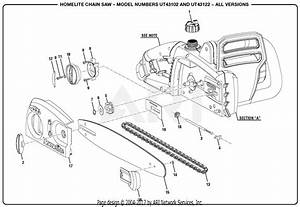 Homelite Ut43122 Electric Chain Saw Parts Diagram For