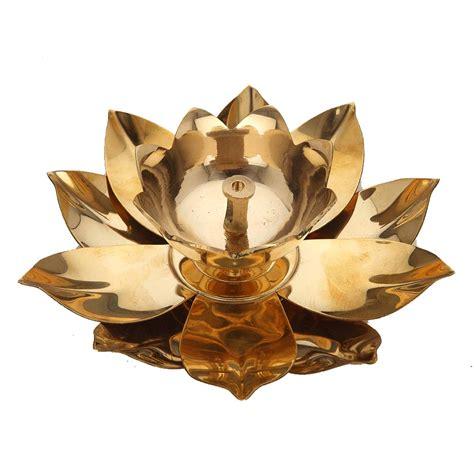 lotus shaped brass diya   shop