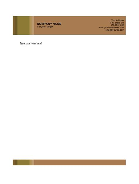 free personal letterhead free letterhead design in word format 7 best images of