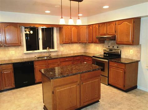 kitchen cabinet and countertop ideas oak cabinets with dark brown countertop google search