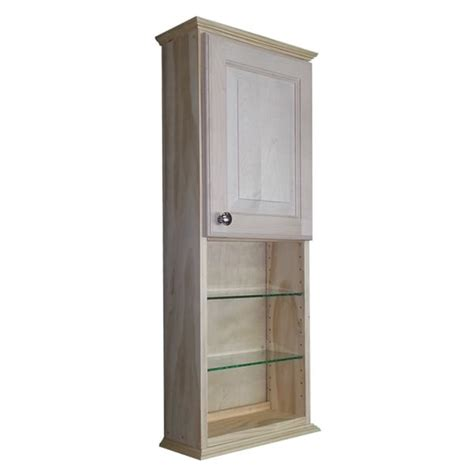 deep bathroom wall cabinets ashley series 48x7 25 inch unfinished wood wall cabinet