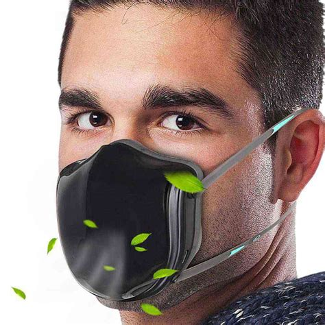 pro reusable smart electric air filter  face mask black