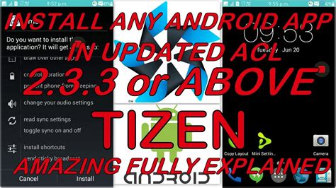 install android app  tizen updated acl    samsung     youtube