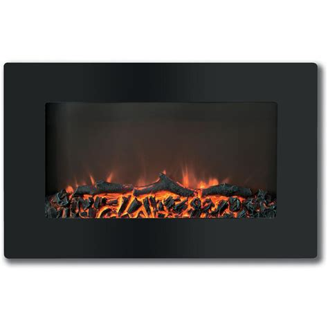 flat for fireplace cambridge callisto 30 in wall mount electronic fireplace with flat panel and realistic logs in