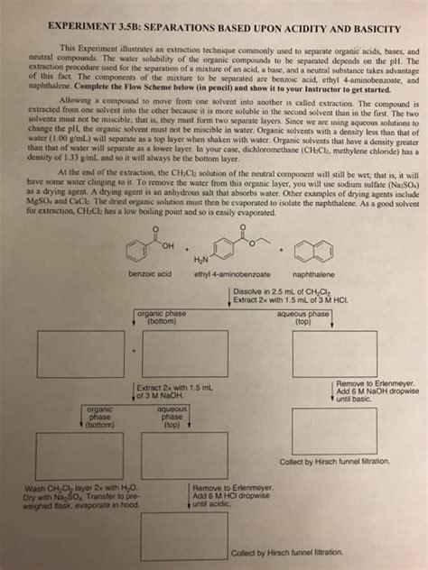 solved complete flow chart   benzoic acid ethyl