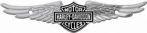 Harley-Davidson Bar & Shield w/ Wings - Chrome Tag ...