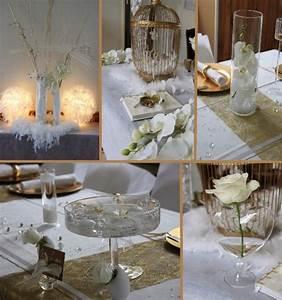 Accessoires Deco Mariage : deco mariage blanc et or le mariage ~ Teatrodelosmanantiales.com Idées de Décoration