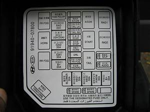 2001 Kia Sportage Fuse Box Diagram  2001  Free Engine