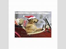 Weihnachten tierisch schnell Postkarte