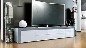 Lowboard Weiß Hochglanz 3m : tv stand board unit lowboard cabinet la paz white high gloss natural tones ebay ~ Markanthonyermac.com Haus und Dekorationen