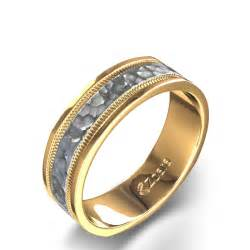 average price of an engagement ring hammered finish 39 s wedding ring in 14k white and yellow gold canada