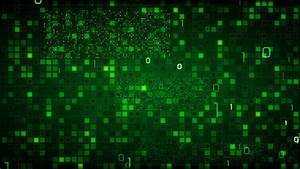 green loopable information technology background binary ...