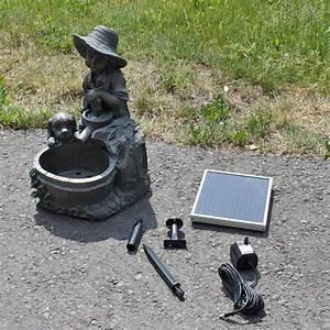 Fontaine Circuit Fermé : fontaine solaire cascade fillette fontaines ~ Premium-room.com Idées de Décoration