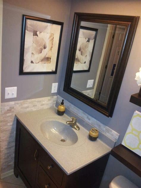 tile backsplash  bathroom   bathroom renos