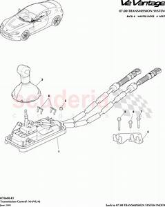 Aston Martin 6g33-7e395-ad  Cable Assy  Transmission Shift  Long