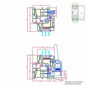details de la fenetre pvc energeto 8000 fenetre24com With porte fenetre oscillo basculante