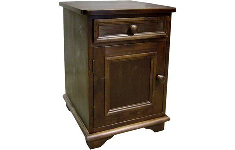 French Country Door and Drawer End Table   French Country